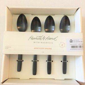 4 Pack Appetizer Spoon Set Black Hearth & Hand